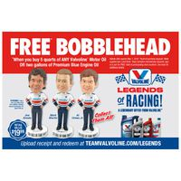 Valvoline Legends of Racing Free Bobblehead Offer